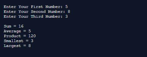 Arithmetic Smallest largest in Java